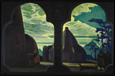 Stage Design for the Opera Tristan and Isolde by R. Wagner, 1912-Nicholas Roerich-Giclee Print