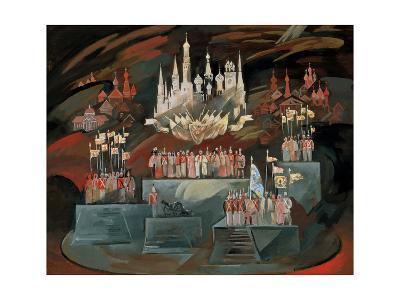 Stage Design for the Opera War and Peace by S. Prokofiev, 1981-Nikolai Nikolayevich Zolotaryev-Giclee Print