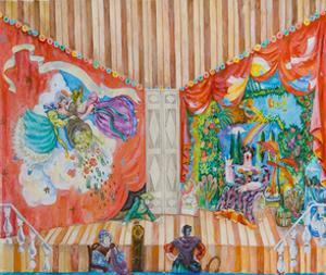 Stage Design for the Play Balzaminov's Wedding by A. Ostrovsky, 1983