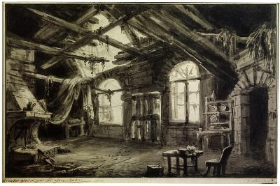 Stage Design for the Play 'The Gambler's Life, by V Ducange, 1828-Antonio Canoppi-Giclee Print