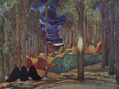 Stage Design for the Play the Martyrdom of St. Sebastian by Gabriele D'Annuzio, 1922-L?on Bakst-Giclee Print