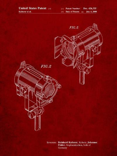 Stage Lights Patent-Cole Borders-Art Print