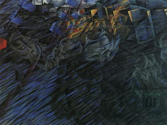 Stage of Mind: Those Who Go-Umberto Boccioni-Giclee Print