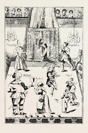 Stage of the Red Bull Theatre During the Commonwealth, London, UK, 1893--Giclee Print