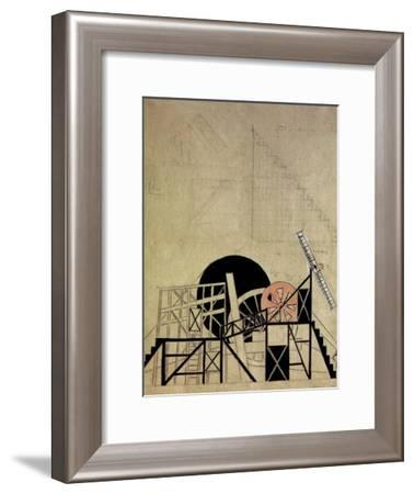 Stage Set Design for the Play the Magnanimous Cuckold by F. Crommelynck, Meyerhold Theatre, Moscow-Liubov Sergeevna Popova-Framed Giclee Print