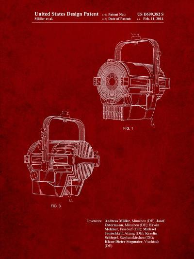 Stage Spotlight Patent-Cole Borders-Art Print