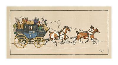 Stagecoach I-Cecil Aldin-Premium Giclee Print