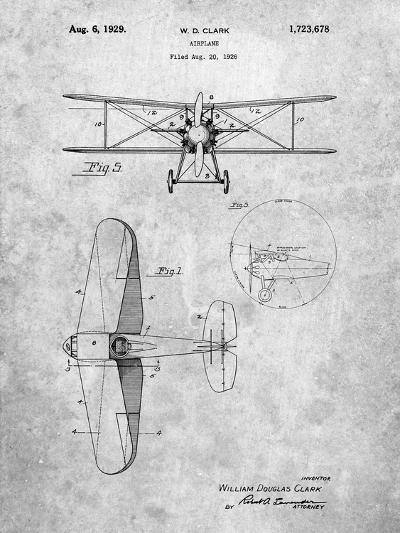 Staggered Biplane Aircraft Patent-Cole Borders-Art Print