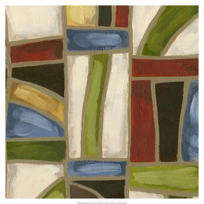 Stained Glass Abstraction II-Karen Deans-Art Print