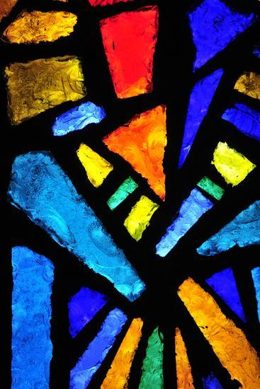 Stained Glass at the Church of the Annunciation- taln-Photographic Print