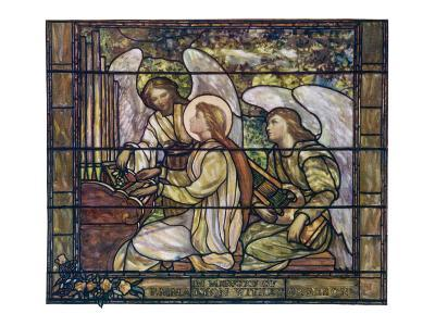 Stained Glass Cecilia--Giclee Print