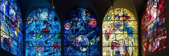Stained glass Chagall Windows at Hadassah Medical Centre, Jerusalem, Israel--Photographic Print