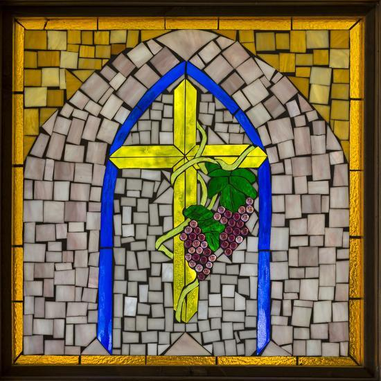 Stained Glass Cross I-Kathy Mahan-Photographic Print