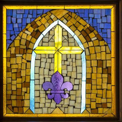 Stained Glass Cross III-Kathy Mahan-Photographic Print
