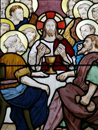 Stained Glass Depicting the Last Supper at Saint-Honor? D'Eylau Church, Paris, Ile De France-Godong-Photographic Print