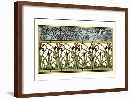 Stained Glass Flowers III-Vision Studio-Framed Art Print