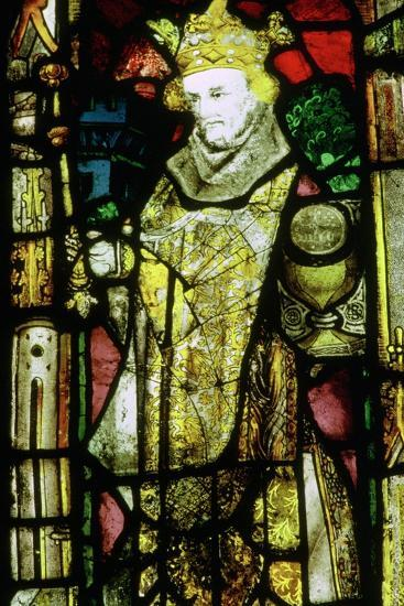Stained glass image of Edward the Confessor. Artist: Unknown-Unknown-Giclee Print