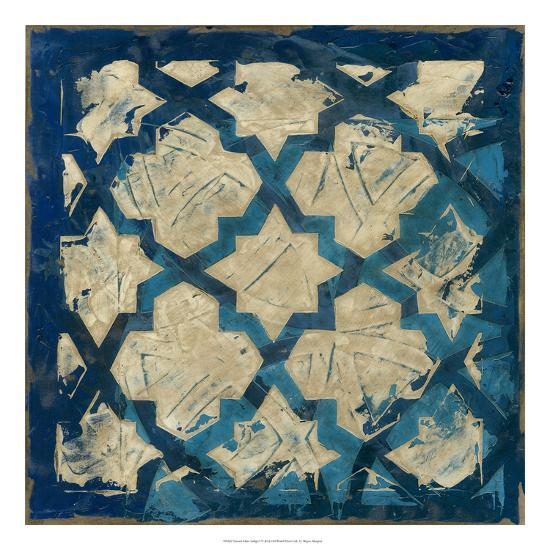 Stained Glass Indigo I-Megan Meagher-Premium Giclee Print