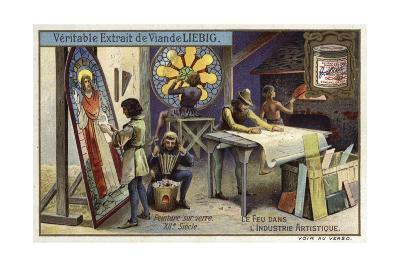 Stained Glass Manufacturing, 12th Century--Giclee Print