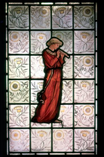 Stained Glass, Minstrel, 1882-1884-William Morris-Photographic Print