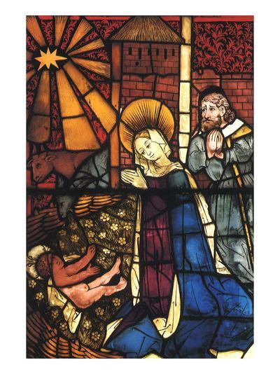 Stained Glass Nativity, 1443--Giclee Print