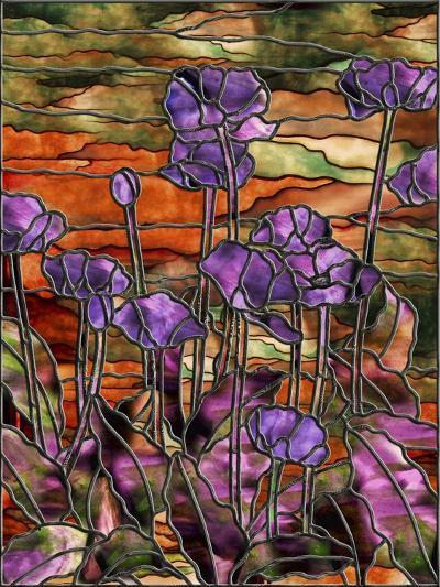 Stained Glass Poppies-Mindy Sommers-Giclee Print