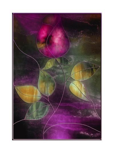 Stained Glass Rose-Mindy Sommers-Giclee Print