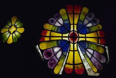 Stained Glass Window. 19th Century. Crypt of the Colonia Guell by Antonio Gaudi (1852-1926). Spain-Antonio Gaudi-Photographic Print