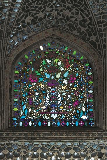 Stained Glass Window, Amber Fort or Amer Palace--Giclee Print