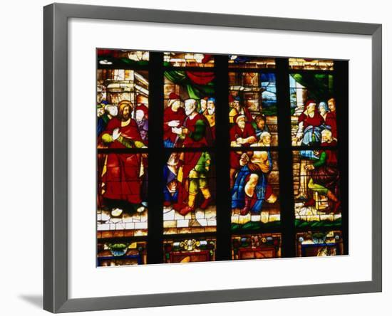 Stained-Glass Window at the Duomo, Milan, Lombardy, Italy-Setchfield Neil-Framed Photographic Print