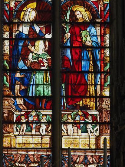 Stained Glass Window, Basilica Saint Nazaire, Carcassonne, UNESCO ...