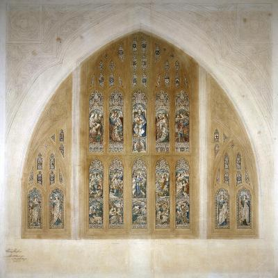 Stained Glass Window Design, 1869-Henry Hughes-Giclee Print