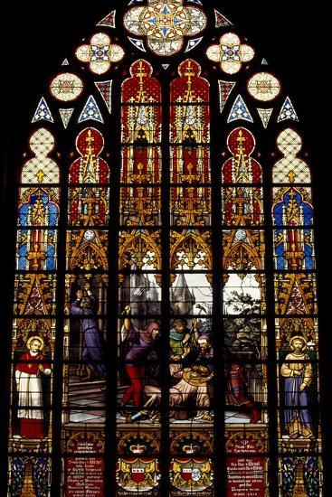 Stained Gl Window From Brabantine Gothic Style St Michael And Gudula Cathedral Belgium Giclee Print By Art