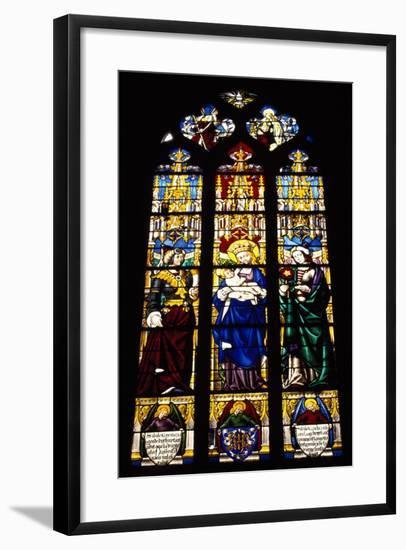 Stained-Glass Window from Church of Saint Michel, Dijon, Burgundy, France--Framed Giclee Print