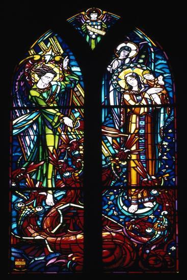 Stained-Glass Window from Church of St Pierre, Mont Saint-Michel, Normandy, France--Giclee Print