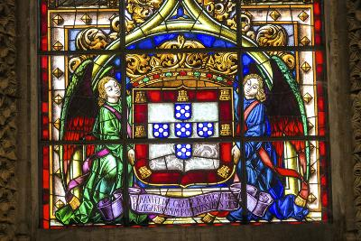 Stained Glass Window, Jeronimos Monastery, Lisbon, Portugal-Jim Engelbrecht-Photographic Print