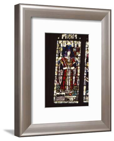 Stained glass window King Henry IV of England (1367-1413), Canterbury Cathedral, 20th century-CM Dixon-Framed Photographic Print