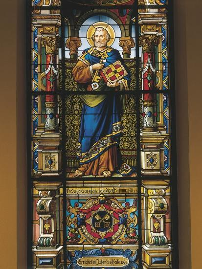 Stained Glass Window of St. Peter, Stockholm, Sweden--Giclee Print