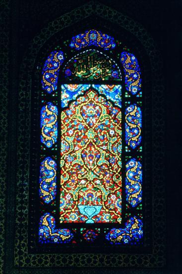 Stained Glass Window, Suleymaniye Mosque, 1557--Photographic Print