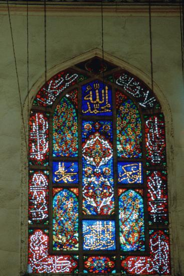 Stained Glass Window, Suleymaniye Mosque, 1557--Photographic Print