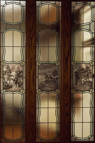 Stained-Glass Window with Natural Landscapes, Ca 1935, Italy--Giclee Print