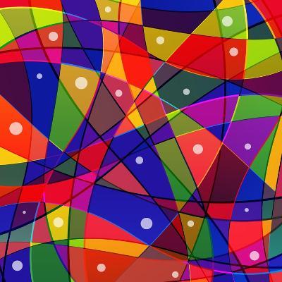 Stained-Glass Window-stekloduv-Art Print