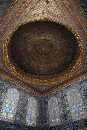 Stained Glass Windows and Ornate Ceiling of the Harem, Topkapi Palace--Giclee Print