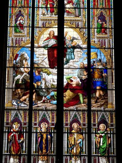 Stained Glass Windows in Cologne Cathedral, Cologne, North Rhine Westphalia, Germany-Yadid Levy-Photographic Print