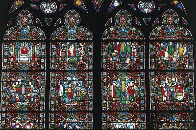 Stained Glass Windows, Notre-Dame Cathedral--Giclee Print