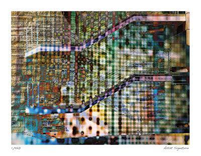 Staircase Abstract-Stephen Donwerth-Giclee Print