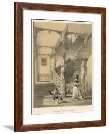 Staircase, Aldermaston, Berks-Joseph Nash-Framed Giclee Print