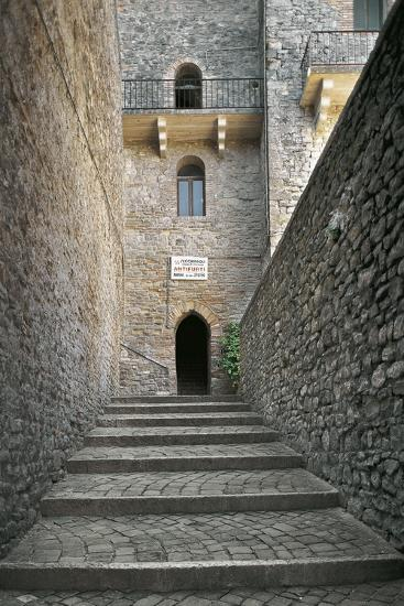 Staircase and Entrance Gate to Malatesta Castle--Photographic Print
