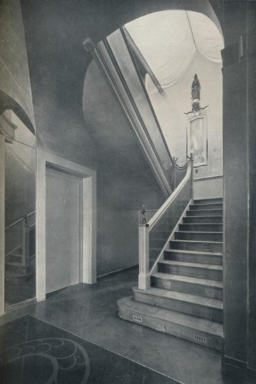 'Staircase and hall of Finella by architect Raymond McGrath (1903-1977)', 1930-Unknown-Photographic Print