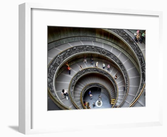 Staircase at Vatican Museum-Tony Burns-Framed Photographic Print